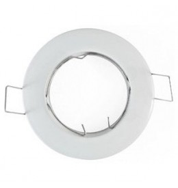 Support spot rond fixe 77mm blanc | Led-Flash