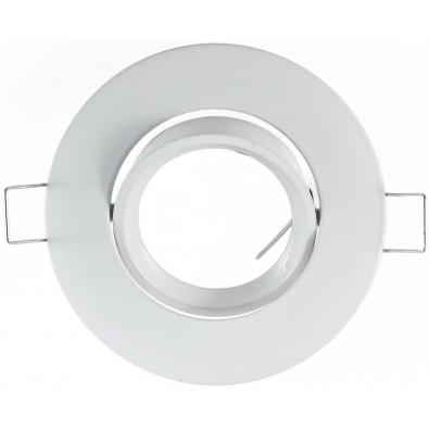 Support de spot rond orientable 92mm (blanc laqué) | Led Flash