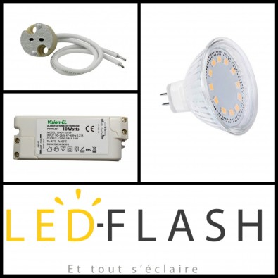 Kit Led GU5.3 4W (eq. 30W) I Led Flash