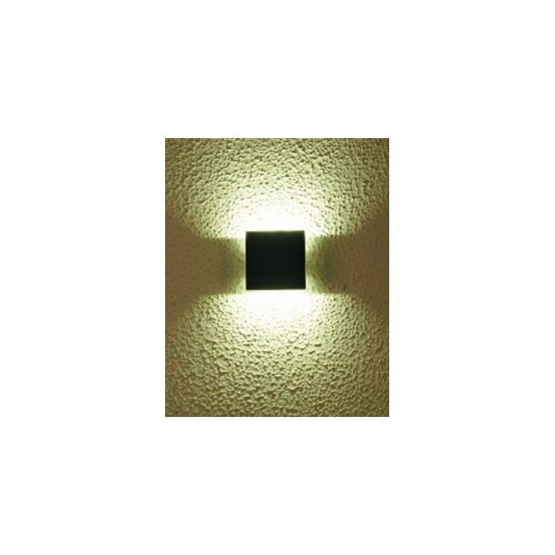 Applique murale led carr cob 3 watt watt for Applique murale exterieur carre