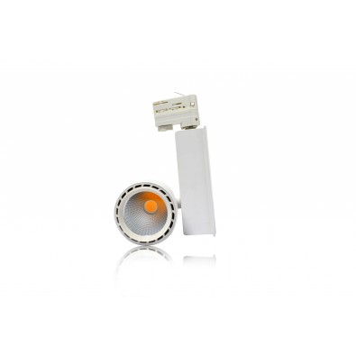 Spot led sur rail 40 watt (eq. 360W) orientable blanc | Led Flash