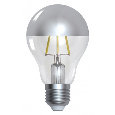 "Ampoule led filament E27 6W ""Calotte argentée"" 