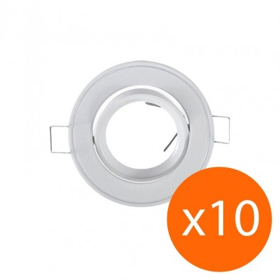 Lot de 10 supports spot rond orientable 86 mm