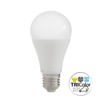 Ampoule led E27 trois couleurs 12 watt | Led Flash