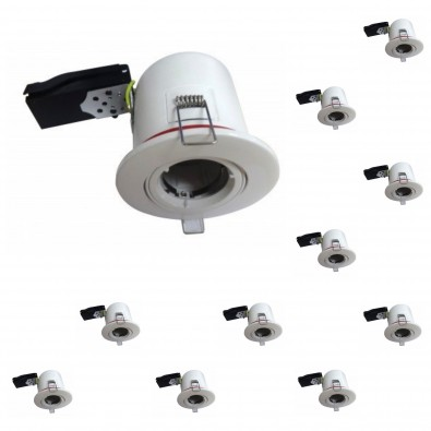 Lot de 10 supports spot RT2012 rond orientable 100mm | Led Flash