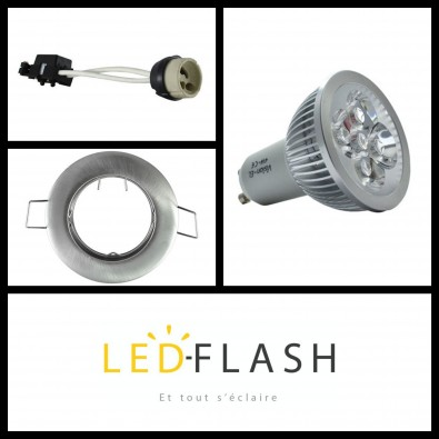 Kit Spot LED GU10 50W dimmable | Led Flash