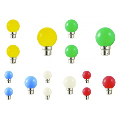 lot de 15 ampoules led b22 couleur pour guirlande achat led d co. Black Bedroom Furniture Sets. Home Design Ideas
