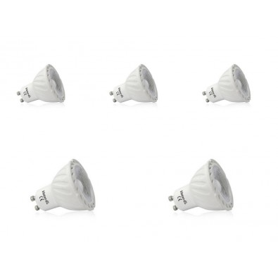 Pack de 5 spots led GU10 COB 5 watt dimmables (eq. 45 watt) | Led Flash