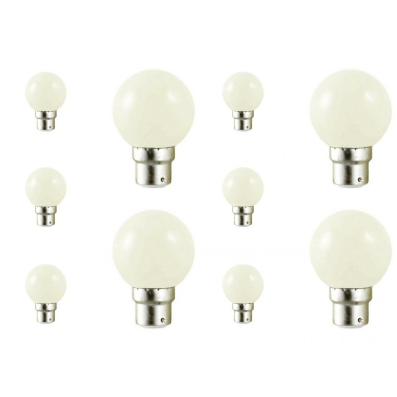 lot de 10 ampoules led b22 couleur pour guirlande achat led d co. Black Bedroom Furniture Sets. Home Design Ideas