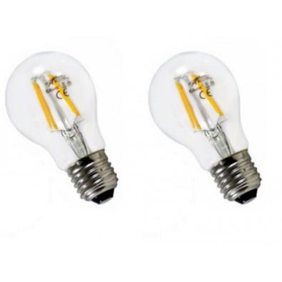 Lot de 2 ampoules led filament E27 6 watt (eq. 60 watt) | Led-Flash