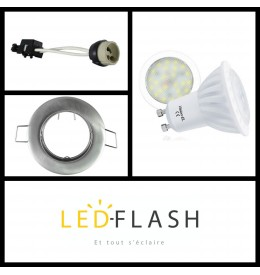 Kit Spot LED GU10 4W | Led Flash