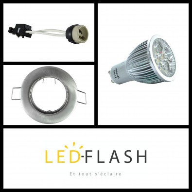 Kit Spot LED GU10 6W | Led Flash
