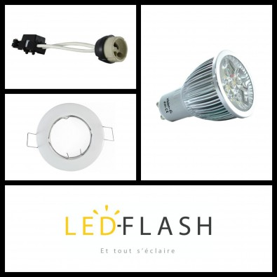 Kit Spot LED GU10 6W dimmable | Led Flash