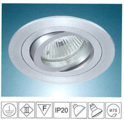 Support spot LED rond orientable 92mm | Led Flash