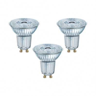 Lot de 3 Spots GU10 PAR16 36° 4,3 watt (eq. 50W) blanc chaud