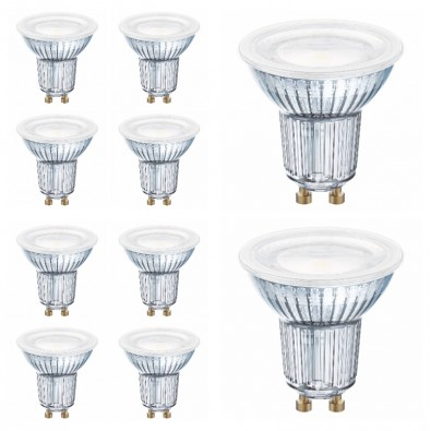 Lot de 10 Spots LED GU10 PAR16 120° 4,3 watt (eq. 50W) GU10 blanc chaud