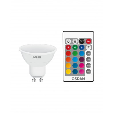 Spot LED GU10 PAR16 STAR+ RGB watt variable via télécommande 4,5 watt (eq. 50W) blanc chaud