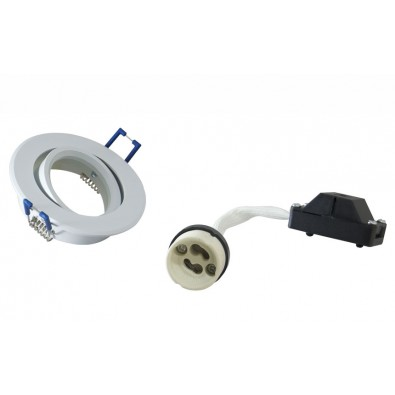 Support spot orientable GU10 blanc - 80mm