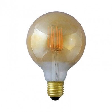 Ampoule Ampoule LED Filamentament Globe G95 E27 4W Golden