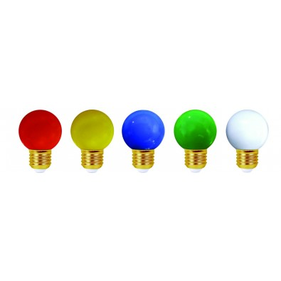 Lot de 5 ampoules led E27 pour guirlande décorative (4 kits)