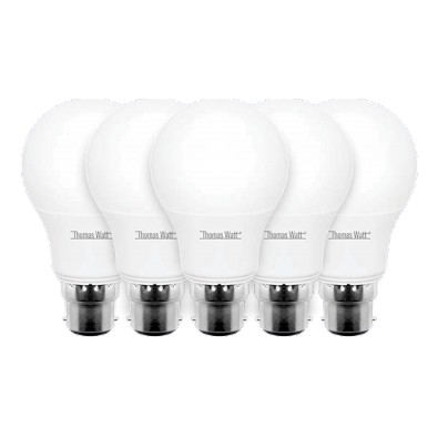 Lot de 5 ampoules led B22 9 watt (eq. 60 watt)