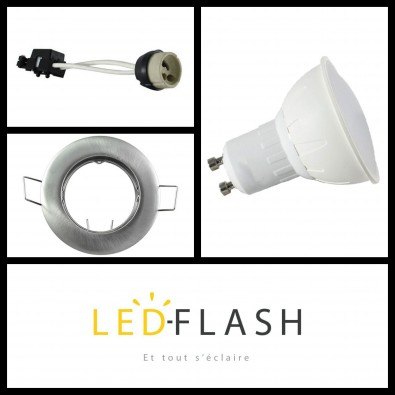 Kit Spot LED GU10 5W | Led Flash